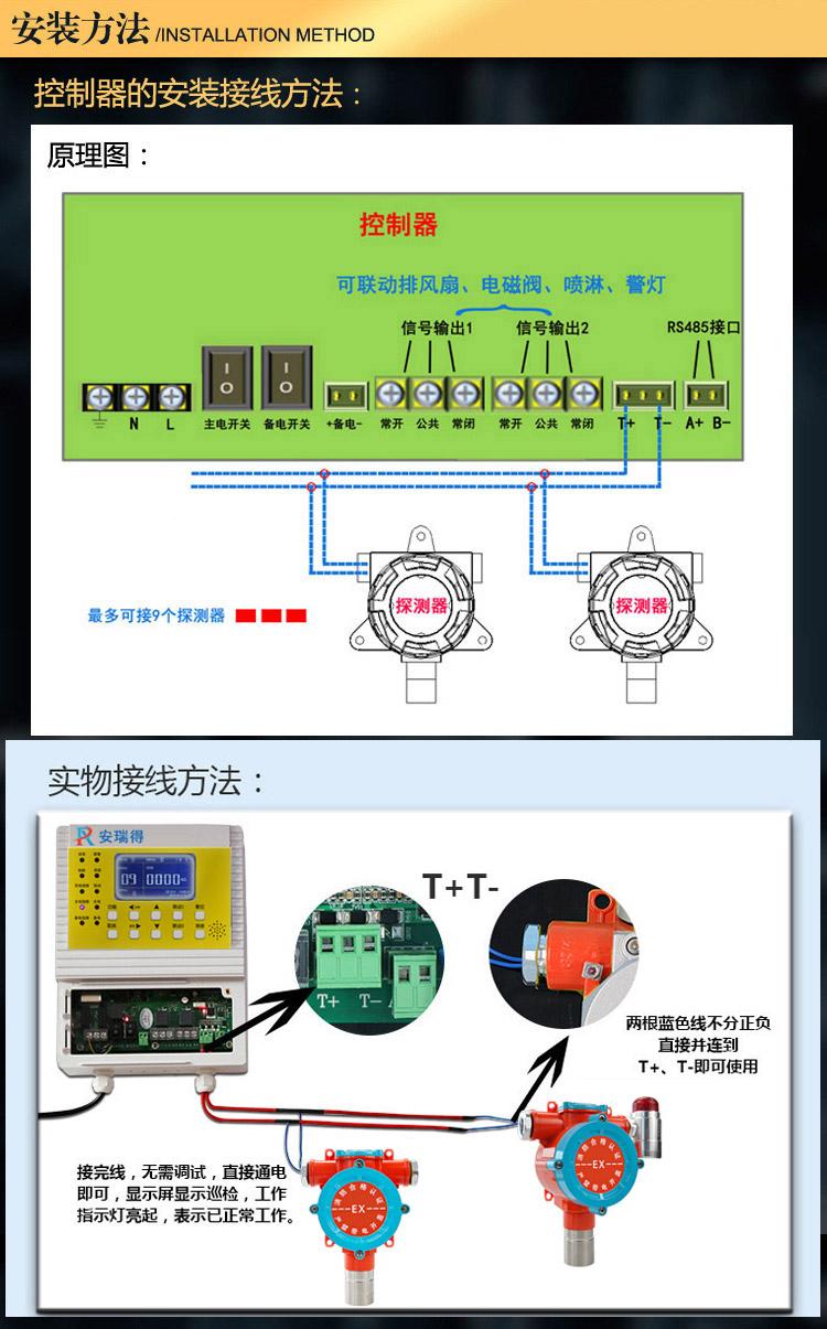 煤油气体报警器安装方法