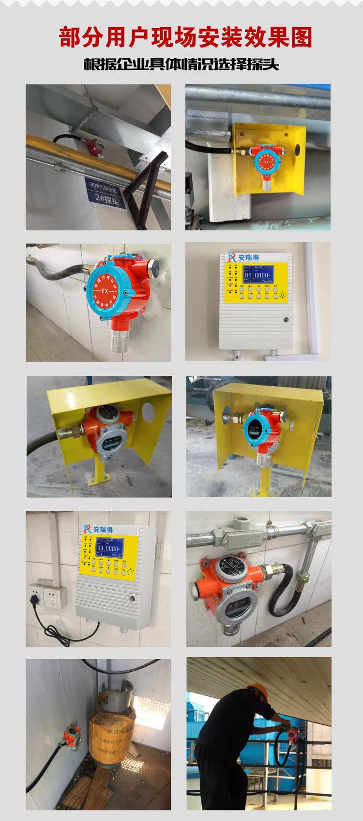 煤油气体报警器安装效果图